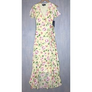 NWT Lulu's Sense of Wonder floral maxi dress XS